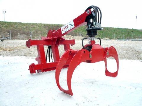 materiel forestier CMS fleche de levage avec grappin forestier, rotator, pince bois, rotateur  # Pince A Bois Pour Tracteur